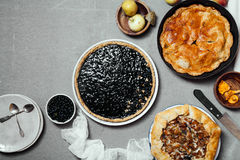Variety of autumn pies Stock Image