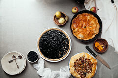 Variety of autumn pies Royalty Free Stock Photography