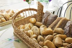 Variety of Baguettes Stock Photos