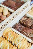 Variety of baked goods, bakery, photo icon for basic food, freshness and variety of goods Royalty Free Stock Photography