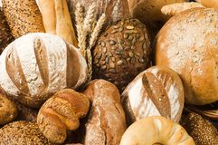 Variety of baked products Stock Photos