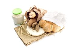 A variety of bakery products stock photo