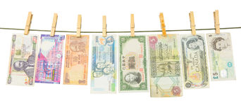 Variety of Bank Notes Stock Image