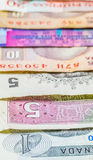 Variety of Bank Notes VI Royalty Free Stock Photos