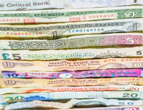 Variety of Bank Notes VII Stock Image