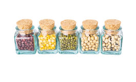 Variety of Beans and Lentils I Stock Image