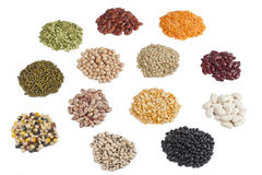 Variety of beans and pulses Royalty Free Stock Images
