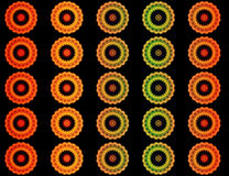 Variety of beautiful mandalas Royalty Free Stock Images