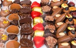 Variety of belgian chocolate pralines Royalty Free Stock Image