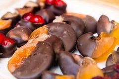Variety of belgian chocolate pralines Royalty Free Stock Photo