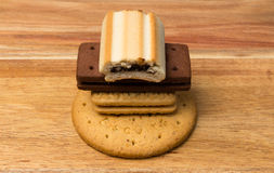 Variety Biscuit Stack Stock Image