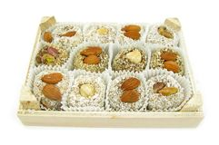 Variety box of cookies Royalty Free Stock Image