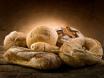 Variety of bread stock photo