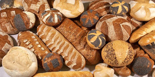 Variety of bread. Variety of fresh bread close up Royalty Free Stock Photography