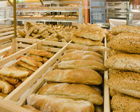 Variety of bread in a bakery Royalty Free Stock Photography