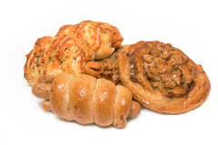 Variety of bread in basket Royalty Free Stock Photos