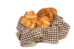 Variety of bread in basket Stock Image