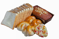Variety of bread and cake Stock Photo