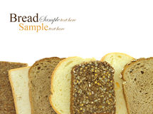 Variety of bread slices horizontal aligned Royalty Free Stock Image