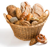 Variety of breadin a basket. Stock Photography