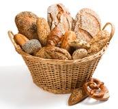 Variety of breadin a basket. Stock Photography