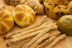 Variety of Breads Royalty Free Stock Photos