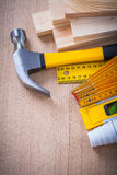 Variety of building objects for maintenance works Royalty Free Stock Image