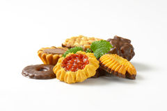 Variety of butter cookies Royalty Free Stock Photo