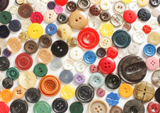 Variety of buttons abstract Stock Photography