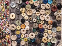 Clothing buttons stock photography