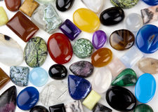 Variety of Cabochons Background Royalty Free Stock Photography
