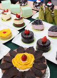 Variety of cakes Stock Image