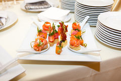 Variety of canapes Royalty Free Stock Photography