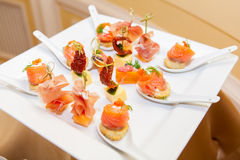 Variety of canapes Stock Photography