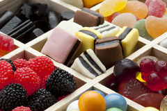 Variety of candy Stock Images