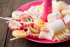 Variety of candy Stock Photos