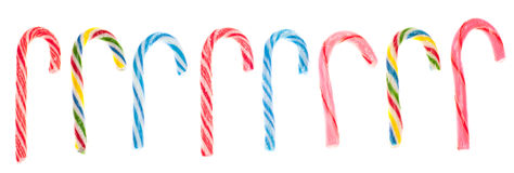 Variety of Candy Cane Candies Royalty Free Stock Photography