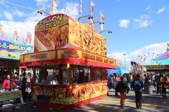 Variety of carnival food vendors Royalty Free Stock Images