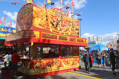 A variety of carnival food vendors Royalty Free Stock Image