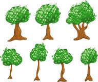 Variety of Cartoon Trees Royalty Free Stock Photography