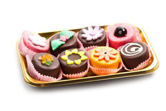 Variety of cassate sicily dessert Stock Photo