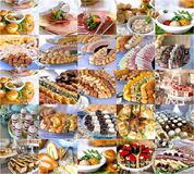 Variety catering food on a table, food decoration, party concept, delicatessen Royalty Free Stock Photo