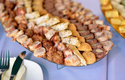 variety catering food on a table, food decoration, party concept, delicatessen Royalty Free Stock Image