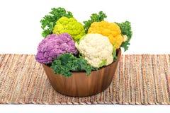 Variety cauliflower Stock Image