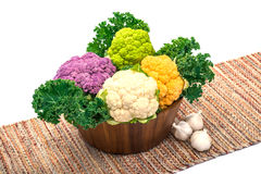 Variety cauliflower Royalty Free Stock Images