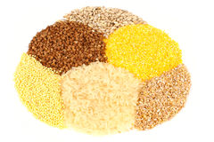 Variety of cereals stock photos