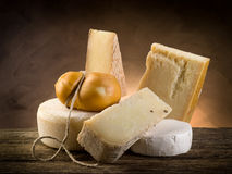 Variety of cheese Stock Photos