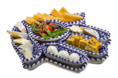 Variety cheese assortment Stock Photography
