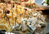 Variety of cheese on banquet table Royalty Free Stock Photography