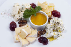 Variety of cheeses Royalty Free Stock Photography